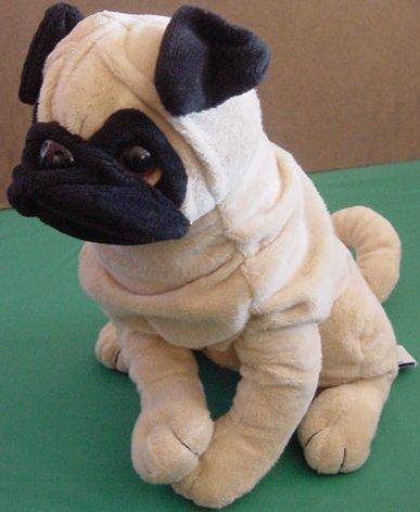 "Ganz Heritage Pug Wrinkle Dog Zeus Stuffed Plush 9"""