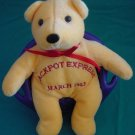 Jackpot Express March 2003 Bear Orange Stuffed Plush 6""