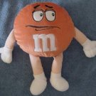 "M&M's Candy Orange Guy Stuffed Plush 10"" Chocolate"