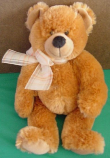 "Tri Russ McKenzie Tan Brown Bear Stuffed Plush 12"" Soft"