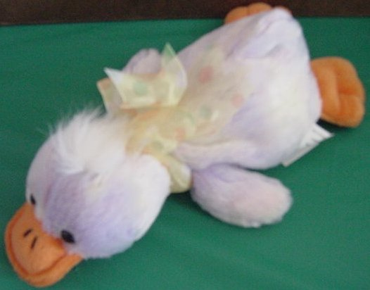 Wal-mart Purple Tie Dye Duck Beanie Stuffed Plush 9""
