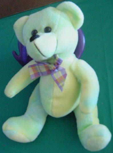 Circus Circus Casino Green Tie Dye Bear Stuffed Plush