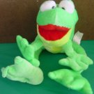 Classic Toy Co Green Big Feet Frog Stuffed Plush 7""