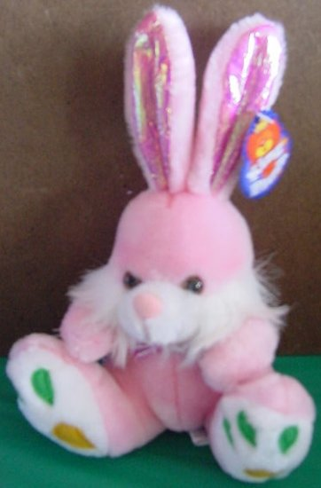 King Plush Pink Bunny Rabbit Carrot Feet Stuffed Plush