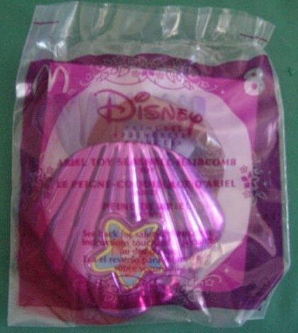 McDonald's Disney Princess Ariel Little Mermaid Seashell Comb #8 MIP