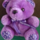 Noteworthy Bear Happy Birthday Purple Singing Plush