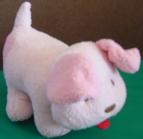 Old Navy Pink Rattle Dog Puppy Toy Stuffed Plush 7""