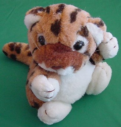 "Russ Lanny Leopard Spotted Wild Cat Stuffed Plush 5.5"""