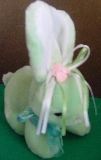 Chinda Gift Green Bunny Rabbit Flowers Stuffed Plush