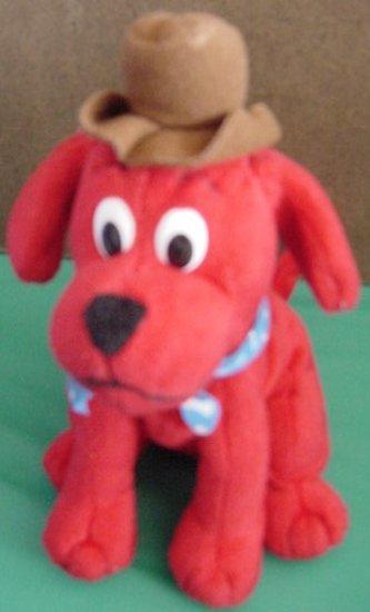 Clifford Big Red Dog Cowboy Hat Bandana Beanie Plush