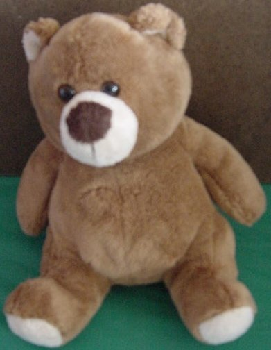 "Fiesta Brown Chubby Belly Bear Stuffed Plush 7"""