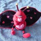 "Valentine's Love Bug with Heart Zipper Stuffed Plush 5"""