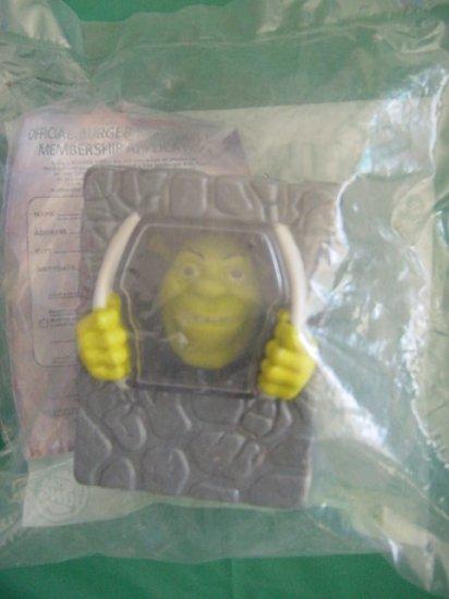 Burger King Shrek 2 Prisoner Shrek Rubber Face Grin MIP