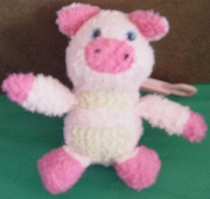 Caboodles Mini Pink Pig Clippy Clip Stuffed Plush 4""