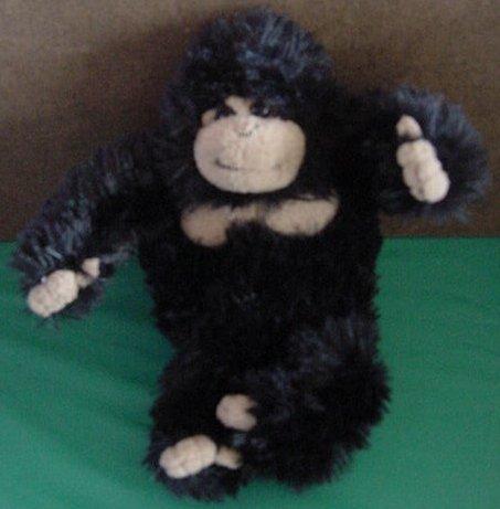 "Calplush Black & Beige Fuzzy Gorilla Stuffed Plush 6"""