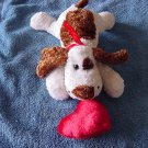 Kids of America White & Brown Dog Puppy Beanie Plush 7""