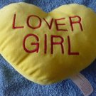 Lover Girl Sweetheart Pillow Yellow Stuffed Plush 7""