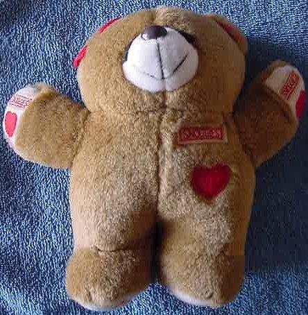"Snuggies Light Brown Heart Bear Stuffed Plush 7"""