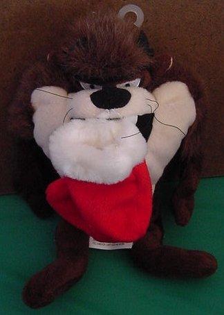 "Taz Tasmanian Devil Christmas Stocking Beanie Plush 8"""