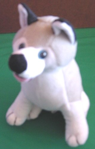 "Circus Circus Blue eyed Husky Wolf Dog Stuffed Plush 7"""
