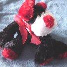 "Dan Dee Black Red White Dog Beanie Plush 6"" Floppy"