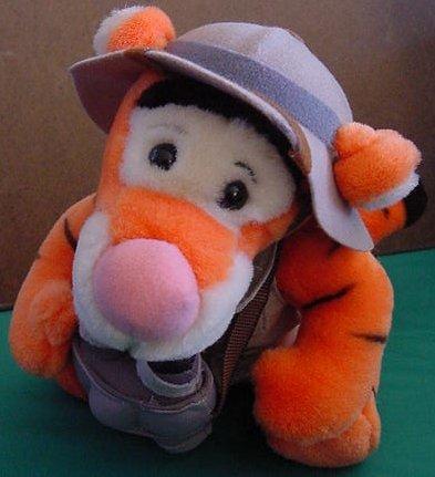 "Disney World Tigger Safari Pith Helmet Beanie Plush 8"""