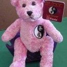 Fiesta Love Forever Yin Yang Bear Pink Stuffed Plush 7""