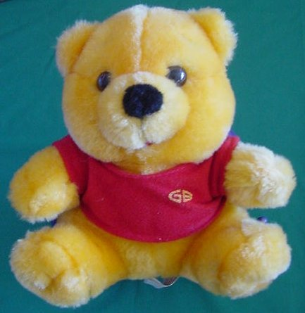 "Golden Bear GB Classic Red Shirt Bear Stuffed Plush 6"""
