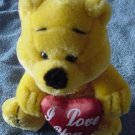 "Golden Bear I Love You Heart Stuffed Plush 8"" Valentine"