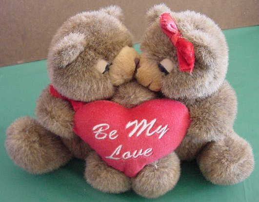 Joelson Be My Love Kissing Bears Magnet Stuffed Plush