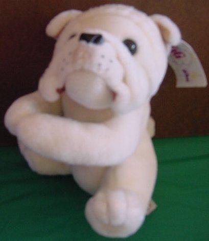 "PBC Tag Alongs Bulldog Dog Stuffed Plush Tag 8"""