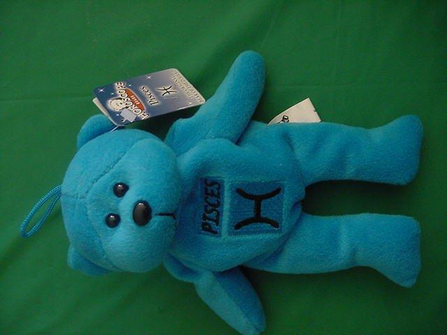 "Horoscope Zodiac Pisces Blue Bear Stuffed Plush 5"" Plushland"
