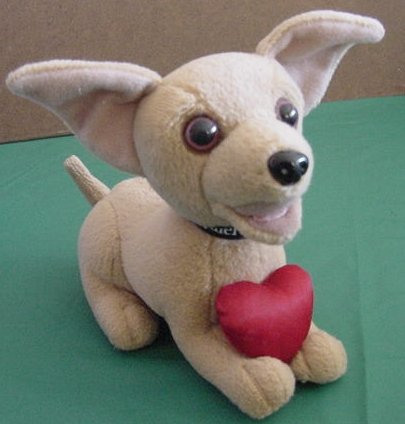 Taco Bell Chihuahua Talking Dog Rroowr Heart Plush 5""