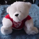 AGC Inc White Love You This Much Bear Stuffed Plush 7""