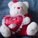 "Angel Toy White Bear I Love You Heart Stuffed Plush 7"""
