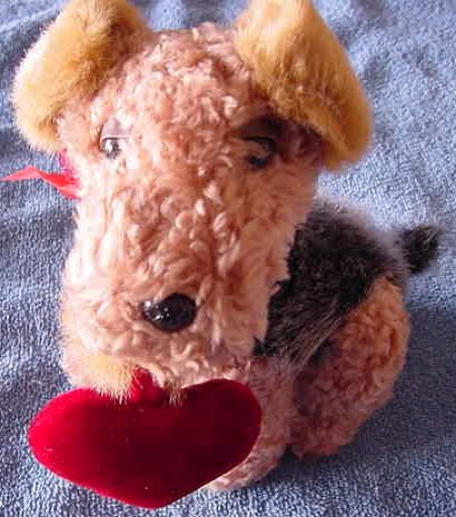 Atico Valentine's Puppy Love Dog Sings Stuffed Plush 7""