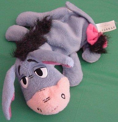 "Mattel Pooh's Friend Eeyore Laying Down Beanie Plush 7"""