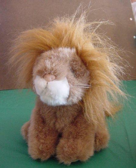 "Unipak Brown Lion with Fuzzy Mane Stuffed Plush 7"""