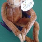 Wishpets Velcro Hands Dwight Monkey Stuffed Plush Tag