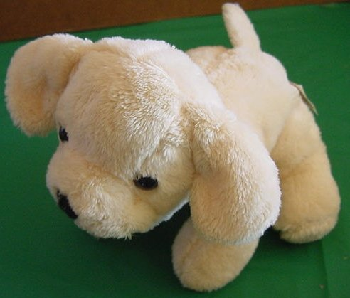 Fiesta Cute Beige Puppy Dog Beanie Stuffed Plush 6""