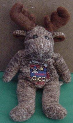 "Arctic Circle Moose Skagway Alaska Beanie Plush 6"""