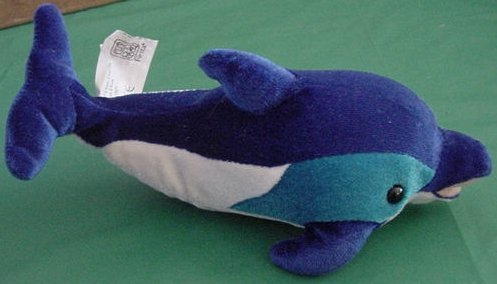 Fiesta Blue & White Dolphin Sea Animal Stuffed Plush 8""