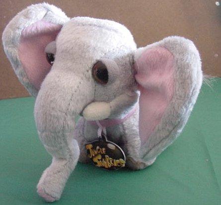 "Jungle Snubbies Gray Elephant Stuffed Plush 6"" Cute"