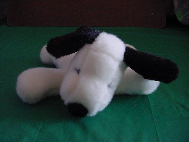 "Snoopy Beagle Floppy Beanie Stuffed Plush 7"" Determined"