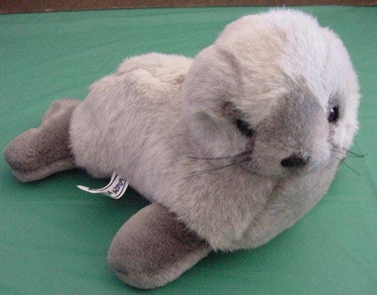 """Mary Meyer Soft Gray Seal 1989 Stuffed Plush 10"""""""