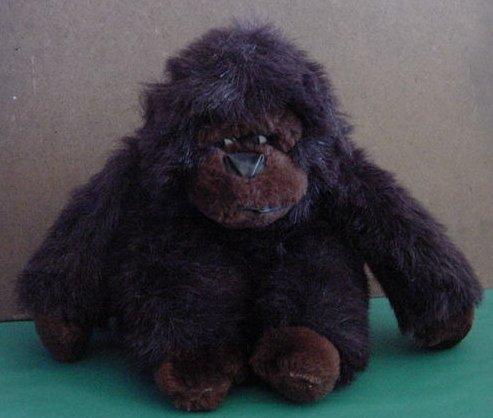 "HC USA Cute Dark Brown Gorilla Stuffed Plush 7"""