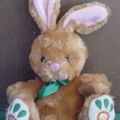 Galerie Light Up Brown Bunny Rabbit Beanie Plush 6""