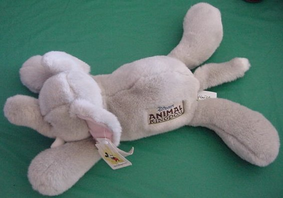 Disney Animal Kingdom Floppy Gray Elephant Plush 14""