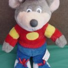 Chuck E Cheese Pizza Rat Mouse Stuffed Plush 10""