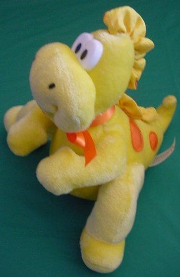 "Commonwealth Dragon Dinosaur Yellow Stuffed Plush 7"""